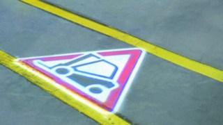 Warnsymbol des Linde TruckSpots
