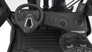 Dezentrales Lenkgrad der neuen Linde Dieselstapler