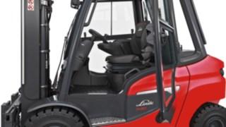 Optimierte Fahrerzelle der neuen Linde Dieselstapler