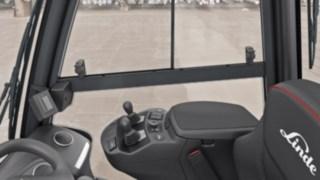 Multifunktionsarmlehne der neuen Linde Dieselstapler