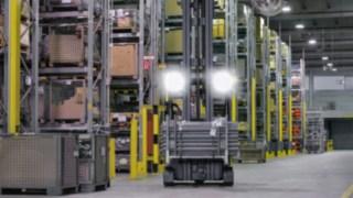 Blendewirkung eines Arbeitsscheinwerfers