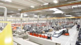 Produktionshalle von Linde Material Handling