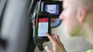 Truck Call App an einem Linde Stapler