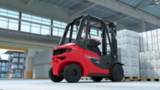 Fahrerlebnis mit den neuen Linde Dieselstapler