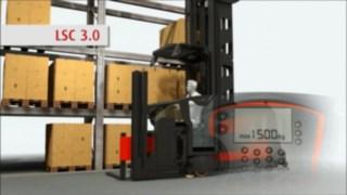 Animation zur Funktion der für die Linde Schmalganggeräte optional verfügbaren Linde System Control (LSC).