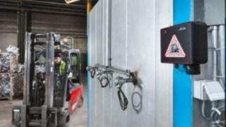 Sicherheitssystem warnt annähernden Stapler